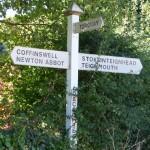 Daccombe signpost