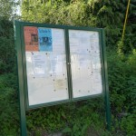 Noticeboard in Daccombe