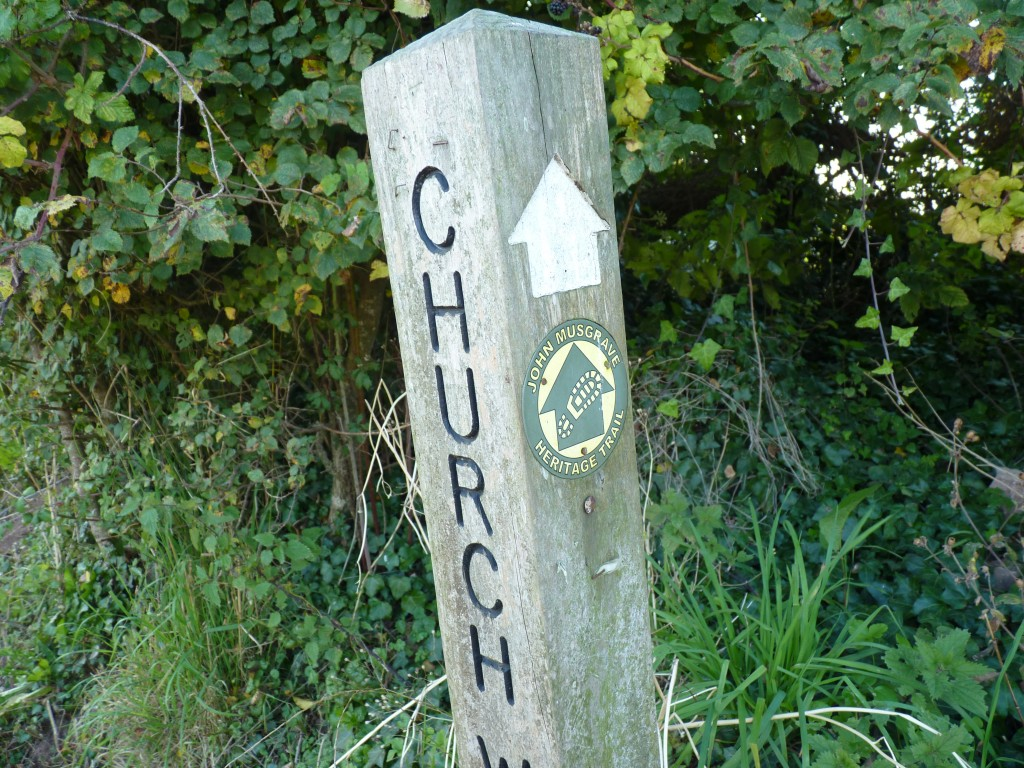 John Musgrave Trail marker post, Churchway