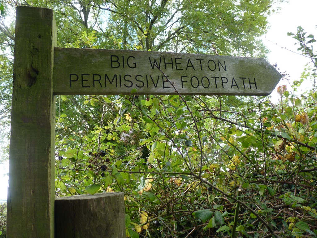 Big Wheaton Permissive footpath, Churchway, Coffinswell